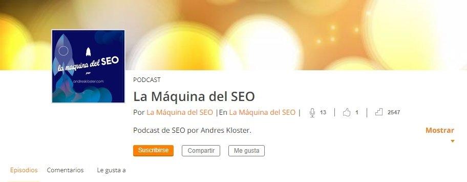 podcast La Maquina del SEO