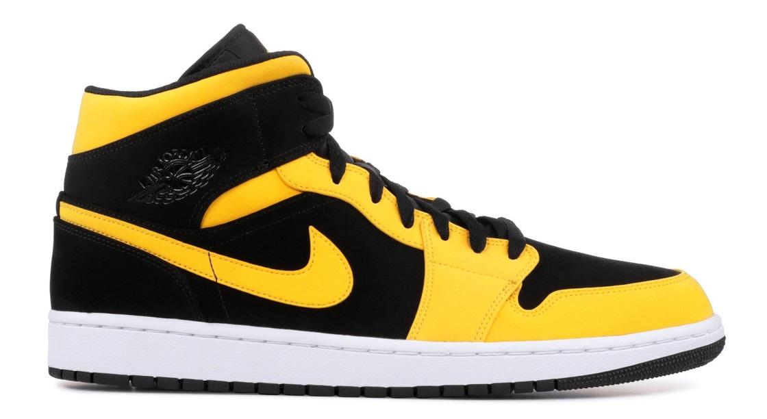 Air Jordan 1 negros y amarillos