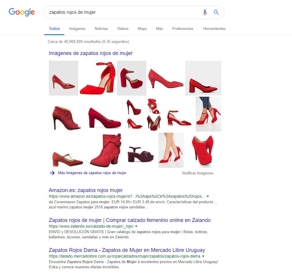Serps con zapatos rojos