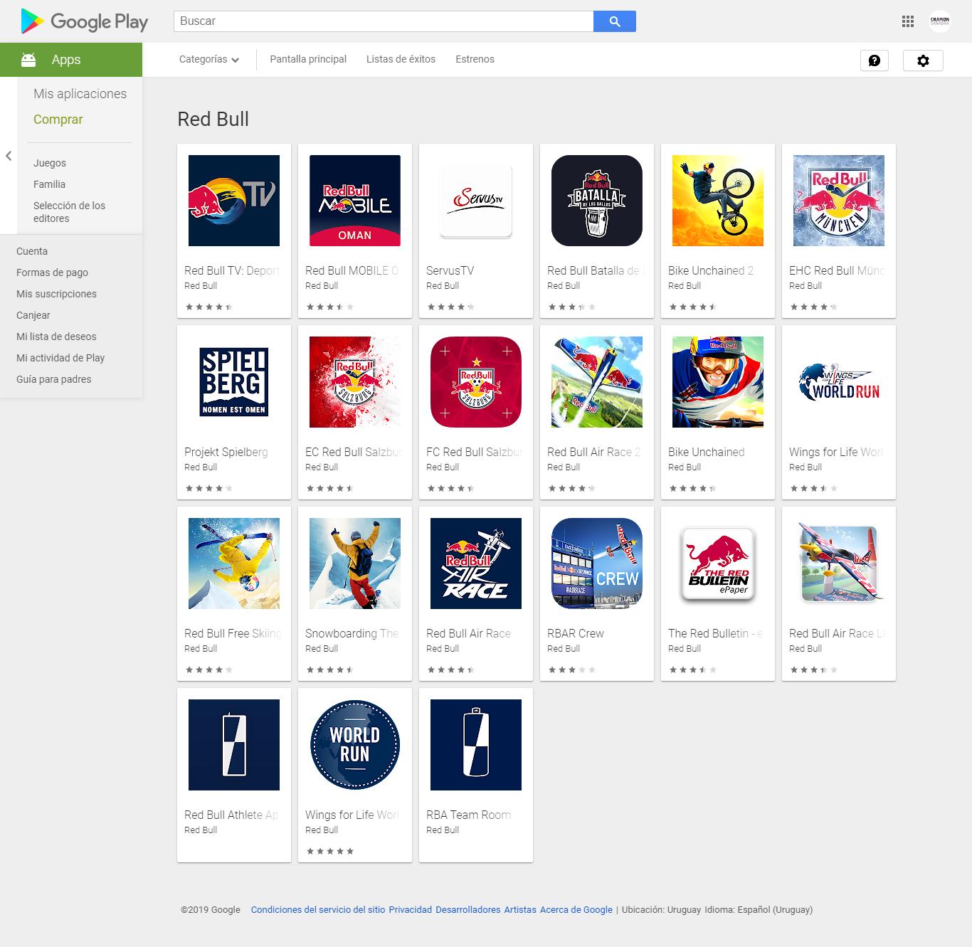 Juegos de Red Bull para móviles
