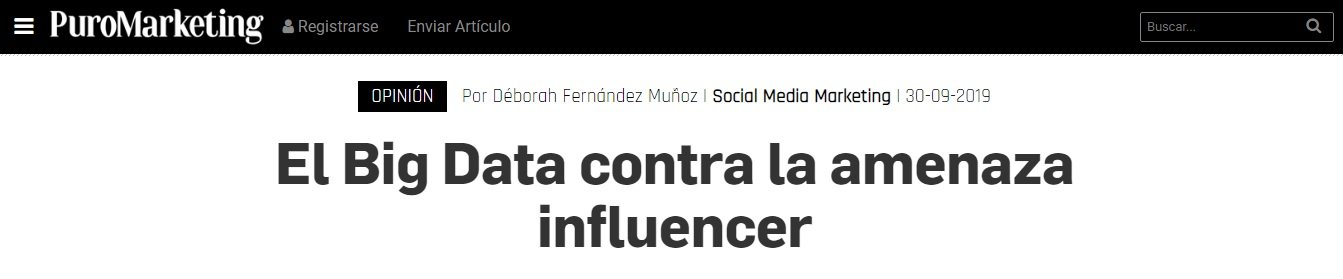 Big data contra amenaza Influencer