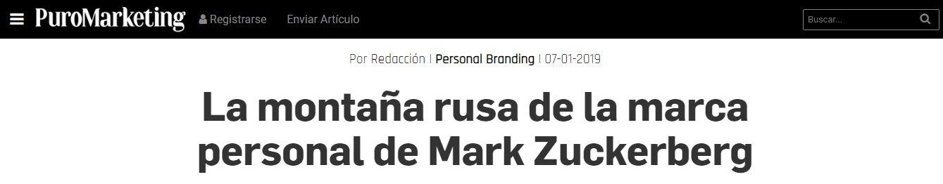 La montaña rusa de la marca personal de Mark Suckerberg