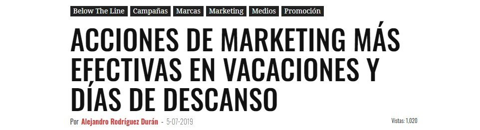 Acciones de marketing mas efectivas para vacaciones y dias de descanso