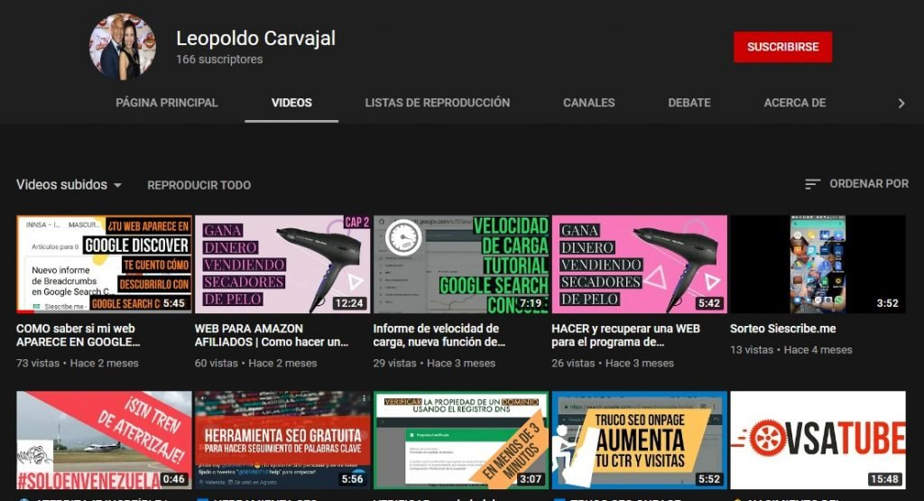 Canal de YouTube de Leopoldo Carvajal