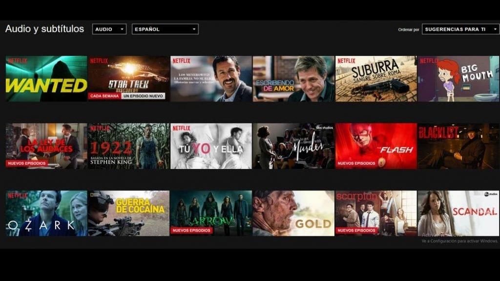 Notificación de nuevos episodios en Netflix