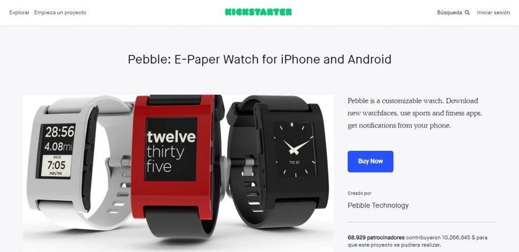 Pebble E-Paper Watch en Kickstarter